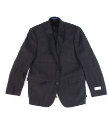 Ryan Seacrest Distinction Men Suit Jacket Red Size 38 Two Button Plaid