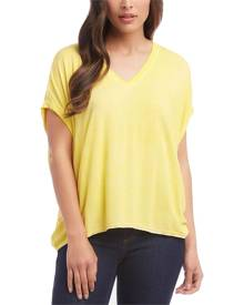 Karen Kane Women's Yellow Size XS High-Low Dolman Knit Top Blouse
