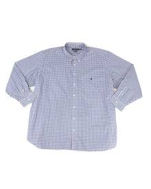 Polo Ralph Lauren Mens Dress Shirt Blue Size Big 4X Plaid Print Stretch