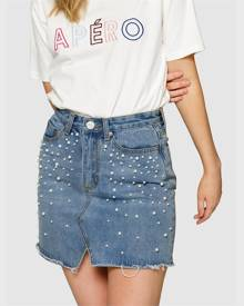 Apero Pearl Denim Skirt - Blue Wash