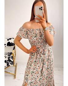 IKRUSH Tinsley Off Shoulder  Maxi Dress FLORAL UK 10