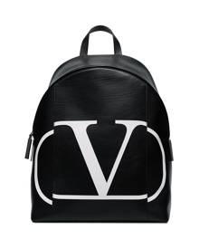 Valentino Valentino Garavani VLOGO print backpack - Black