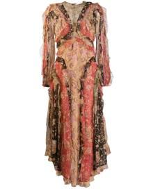 Zimmermann floral patchwork dress - ORANGE