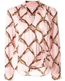 Jonathan Simkhai tie front draped blouse