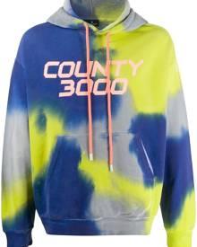 Marcelo Burlon County of Milan County 3000 tie-dye hooded sweatshirt