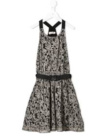 Andorine belted lace dress