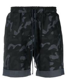 Alchemy camouflage-pattern track shorts