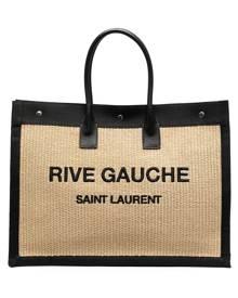 Saint Laurent Rive Gauche straw tote bag