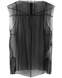 Rick Owens tulle-layer mesh blouse
