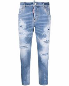 Dsquared2 ripped-detail cropped jeans