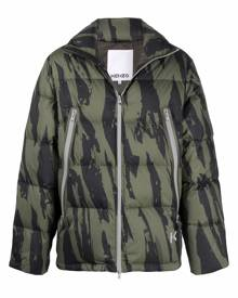 Kenzo Pleat Camo-print puffer jacket
