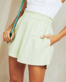 Pepper Mayo On Vacation Shorts - Neon Mint