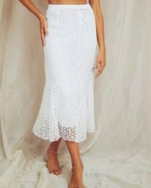 Pepper Mayo Hummingbird Skirt - White