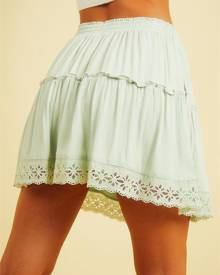 Pepper Mayo Finding Islands Skirt - Sage