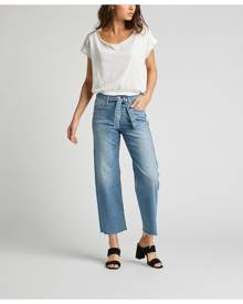 Silver Jeans Tied and Wide High Rise Wide Leg Jeans