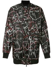 Haculla abstract print bomber jacket - Black