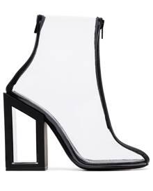 Nicholas Kirkwood black Void 105 PVC ankle boots