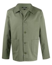 A.P.C. pointed collar shirt jacket - Green