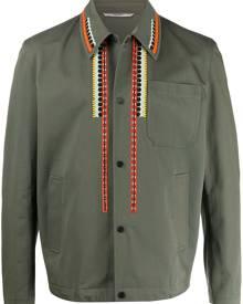 Valentino embroidered shirt jacket - Green