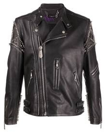 Philipp Plein biker Plein jacket - Black