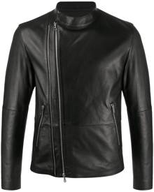 Desa 1972 regular-fit zip-up biker jacket - Black