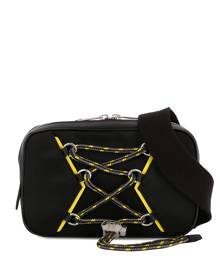 Givenchy contrast piping drawstring belt bag - Black