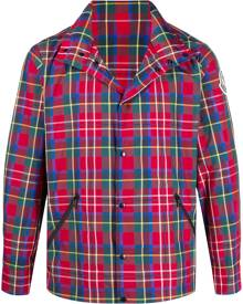 Moncler tartan-print windbreaker jacket - Red