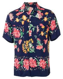 Fake Alpha Vintage 1950s floral print short-sleeved shirt - Blue