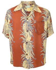 Fake Alpha Vintage 1950s floral print short-sleeved shirt - Brown