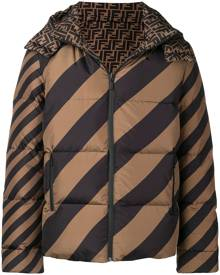 Fendi logo puffer jacket - Green