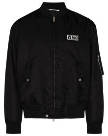 Valentino logo bomber jacket - Black