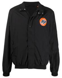 Heron Preston logo-print buttoned windbreaker - Black