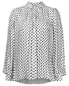 MSGM polka-dot pleated shirt - White