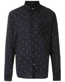 Osklen all-over rose-print shirt - Blue