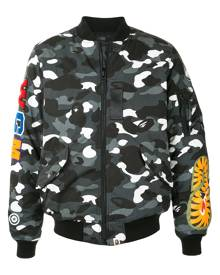 A BATHING APE® Camo Shark bomber jacket - Black