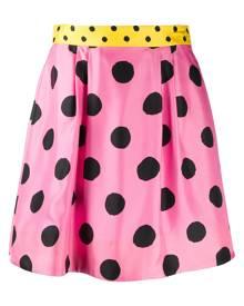 Moschino polka dot skater skirt - PINK