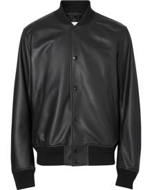 Burberry embossed logo bomber jacket - Black