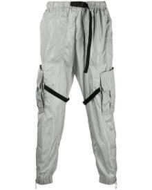 Off-White elasticated-waist cargo pants - Grey