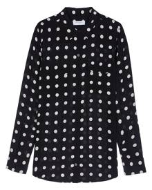 Equipment polka-dot print shirt - Black