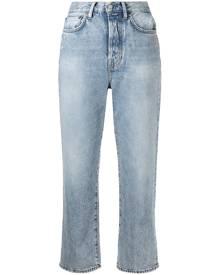 Acne Studios Mece straight-leg cropped jeans - Blue