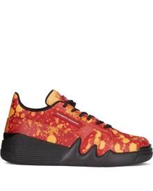 Giuseppe Zanotti Talon tie-dye leather sneakers - Red