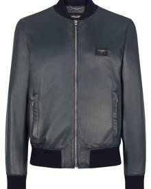 Dolce & Gabbana lambskin leather bomber jacket - Black