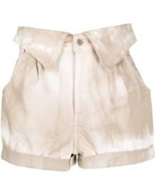 Stella McCartney tie-dye denim shorts - Neutrals