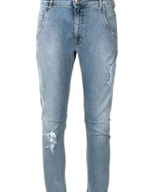 TWINSET mid-rise cropped leg jeans - Blue