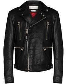 Alexander McQueen leather biker jacket - Black