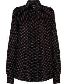 Dolce & Gabbana polka dot silk shirt - Black
