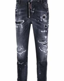 Dsquared2 ripped-detail cropped jeans - Black