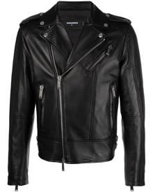 Dsquared2 leather biker jacket - Black