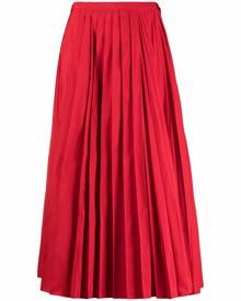 Valentino fully pleated midi skirt - Red