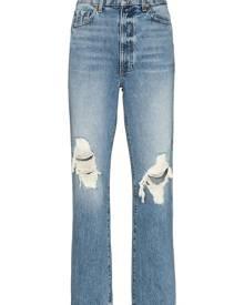 KHAITE Abigal ripped high-waisted jeans - Blue